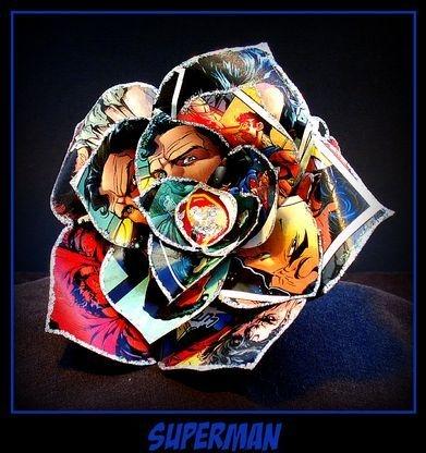 Handmade Comic Book Rose
