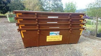 Eastern Mini Skips -  Stacked 4 cubic meter mini skips for hire