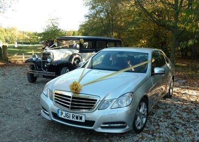 Wedding cars Mercedes E Class with Vintage limousine