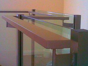 Stainless steel balustrade with grab rail