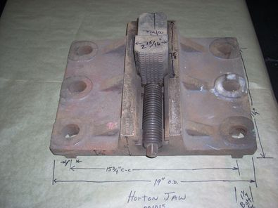 "Set of (4) Horton Large Heavy Pattern Jaws 14"" Long x 19"" Wide x 15 3/4"" Hole Center Distance B"