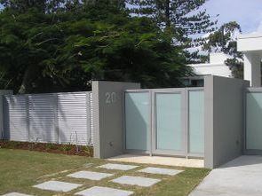Translucent glass sliding gate