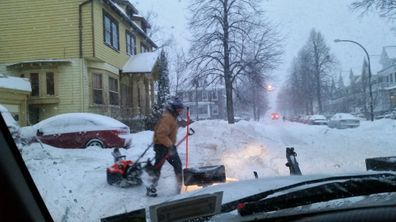 snow blowing service Yard barber Lawn Service LLC