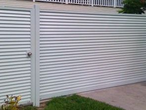 Whit powder coated gate and fencing