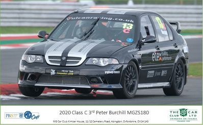MGCUP 2020 3rd place MGZS Race Car Peter Burchill Driver Vulcan Racing