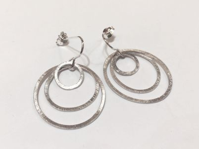 hand made silver earrings
