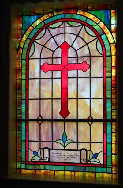 Stained Glass Windows At First Mt Olive Baptist Church In