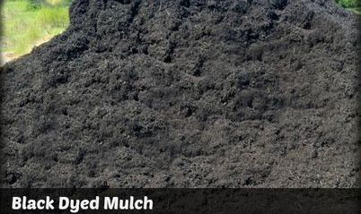 Black Dyed Mulch in Lynchburg at Yard 29