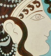 Make Up Art in Ancient Greece, Woman form Knossos fresco in Crete