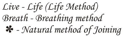 Expansion of Live* Breath which was researched by Sivamathiyin Jeevayogam.