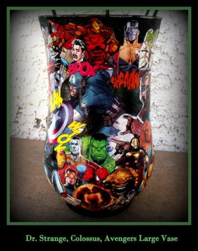 Large Comic Book  Vase