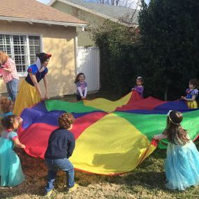 snow white princess party birthday games parachute best