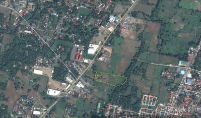 Google map lot plan of 3 hectares for sale.