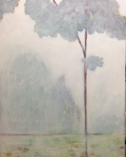 Landscape and Tree painting, art