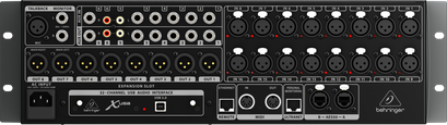 Behringer x32 Rack rear view
