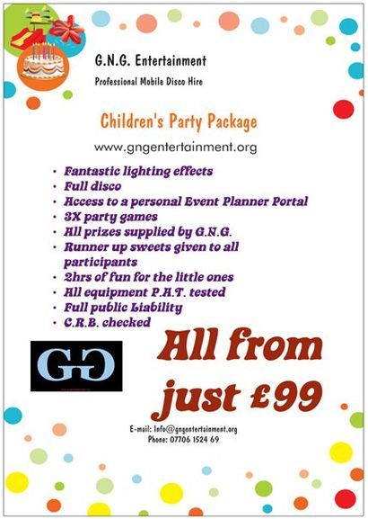Included with every GNG Kids booking