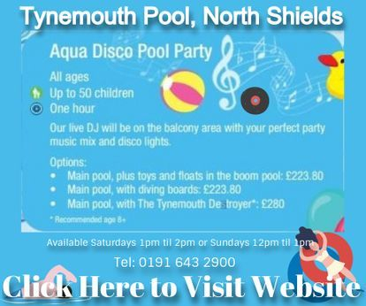 Party packages available at Tynemouth Pool