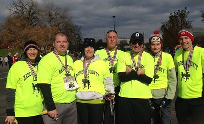 Madison County EMD Running Team at the 2013 OSU 4Miler.