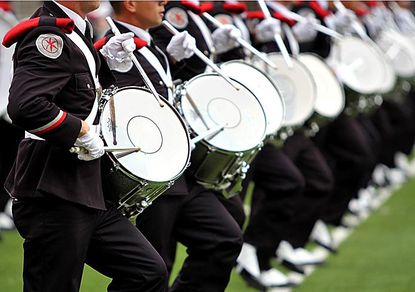 OSUMB Snare Drum row