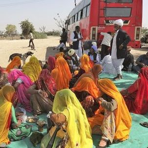 "src=""australian womens travel.jpg alt=womens tours,locals having a break from theior bus journey , India"