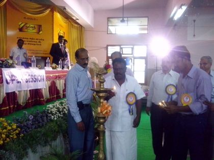 Chief Guest Hon'ble MLA Thiru. M. ARUMUGAM lighted Kuthuvilakku and inaugurated the Conference