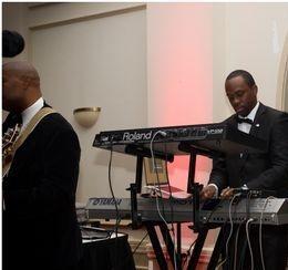 Jermaine Tate playing keys