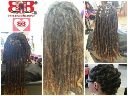 Loc Repairs for all type and texture hair of natural dreadlocks.  Instantloc Dread Extensions is a technique that can start Locs or repair Real Dreadlocks.