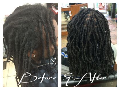 Dread Extensions invented by Braids By Bee called Instantloc Dread Extensions
