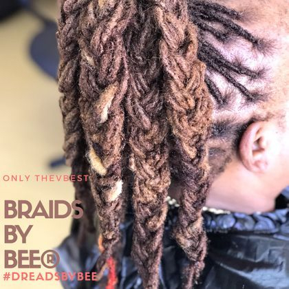 Braids by Bee well known for best dreadlock hair styles and best at repairing dreadlocks