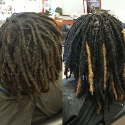 Bee adds color to dreadlocks without dying dreads