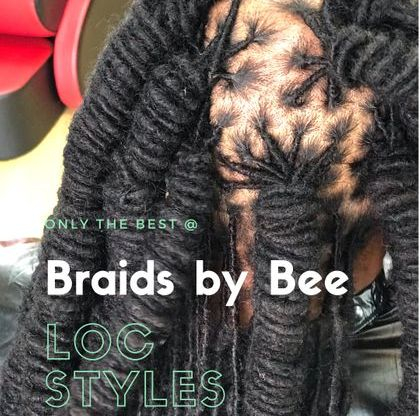 Braids by Bee is well known for being a trendsetter starting new hairstyles on clients everyday at Braids by Bee