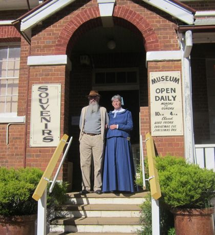 Museum volunteers, Kevin and Marilyn Stemm, waiting to welcome Visitors