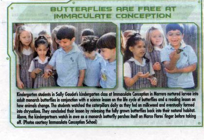 Publicity work published in the Clarion Herald.