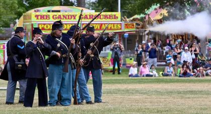 C Co., 140th Pennsylvania Infantry in battle during the 2016 State Fair