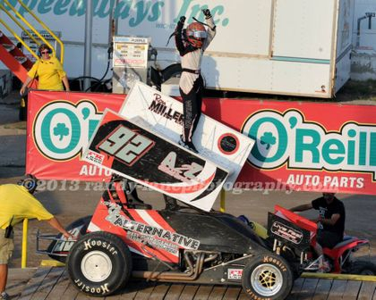 Jordan Weaver picked up her first career sprint car win at 81 Raceway Sunday, June 23rd!
