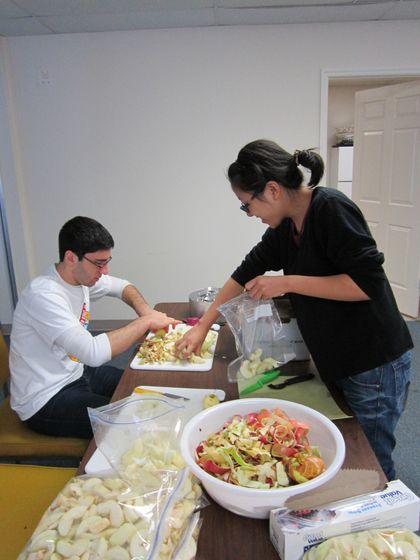 Slicing Apples at Helping Overcome Poverty's Effects (HOPE).