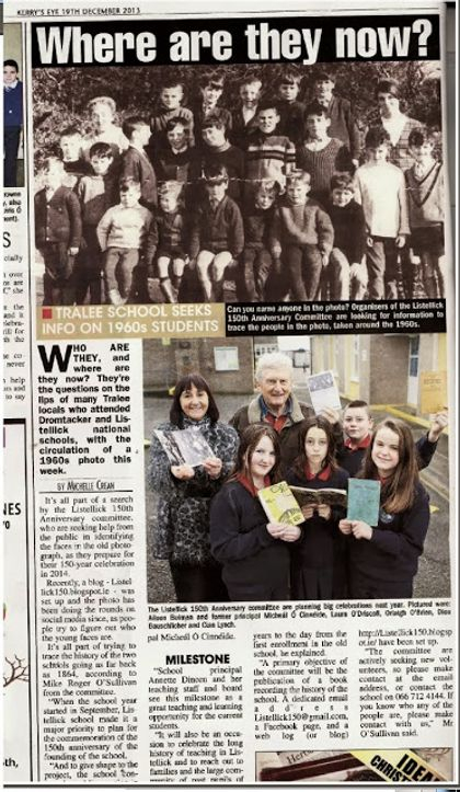 Recent feature in local newspaper