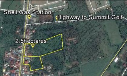 Lot plan of 2.5 hectares in Inosloban Lipa City