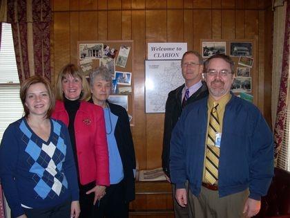 St. Rep Donna Oberlander, CCHS Exe.  Dir. Mary Lea Lucas, Mary Zeller, CC Comms. Greg Faller & Wayne Brosius