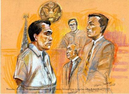 Thursday, November 21, 2013 L to R: Leonard Glenn Francis, Edward Swan, Judge Jan Adler, Robert Huie.