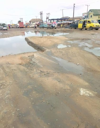 Deplorable condition of the Lagos State Badagry International  Expressway
