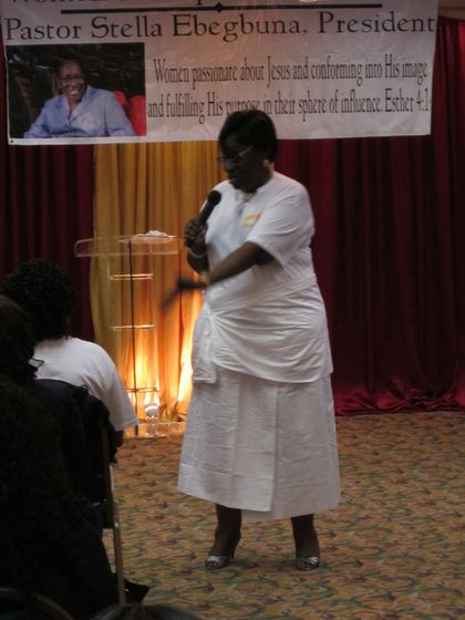 WOPIN USA with our President Rev Stella Ebegbuna