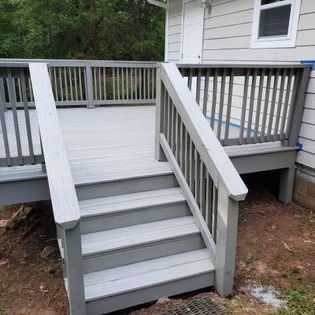Residential Deck Staining After