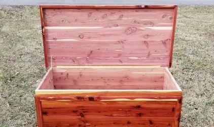 "Red Cedar Chest w/cedar trim  24"" Wide x 50"" Long x 24"" Tall"