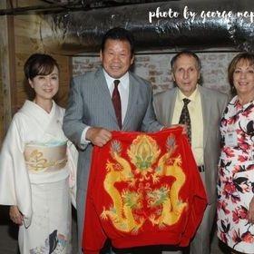 Tatsumi Fujinami & his wife along with George Napolitano & his wife