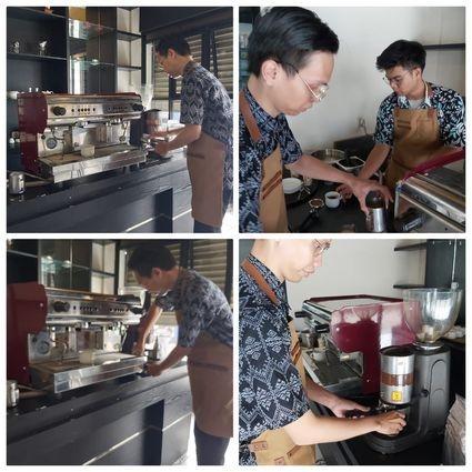 Praktek barista LPT panghegar