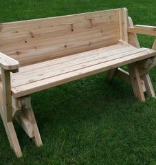 Cedar Folding Table / Bench