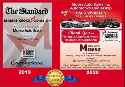 Diamond  winner Award for used car dealership  2020