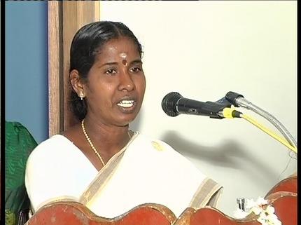 Mrs. Umamaheswari (God Contacter) - one of the members of the Project Regard.