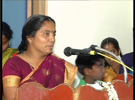 Mrs. Revathy (God Contacter) - one of the members of the Project Regard.